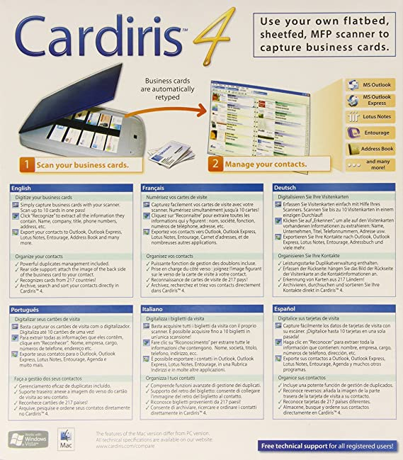 Amazon cardiris corporate 4 card scanning solution reheart Image collections