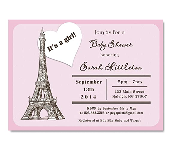 Amazon paris baby shower invitation girl girl baby shower paris baby shower invitation girl girl baby shower invitations baby shower invitations girl filmwisefo Gallery