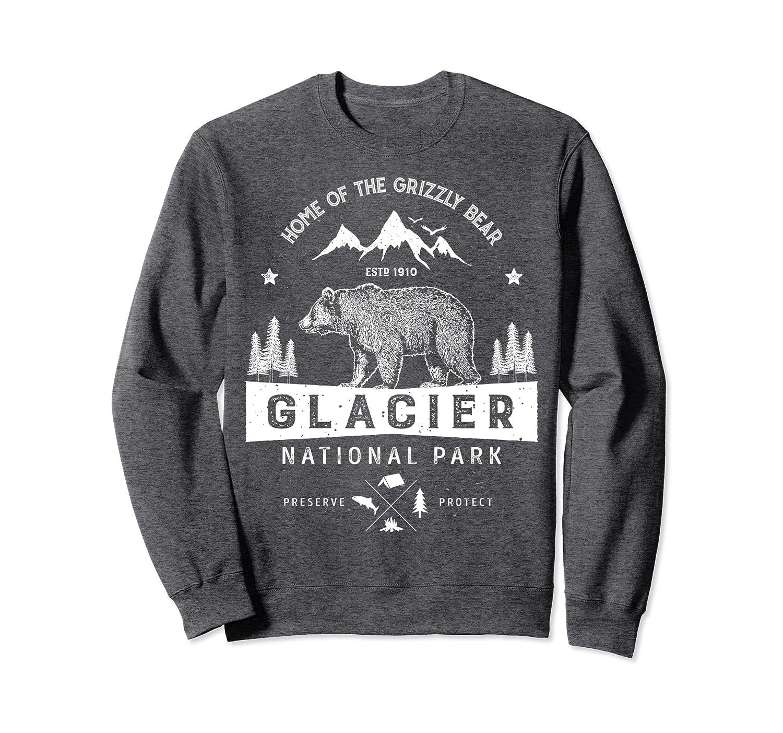 Glacier Sweatshirt National Park Vintage Montana Men Women-alottee gift