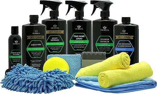 TriNova Car Wash Kit Complete Detailing Supplies