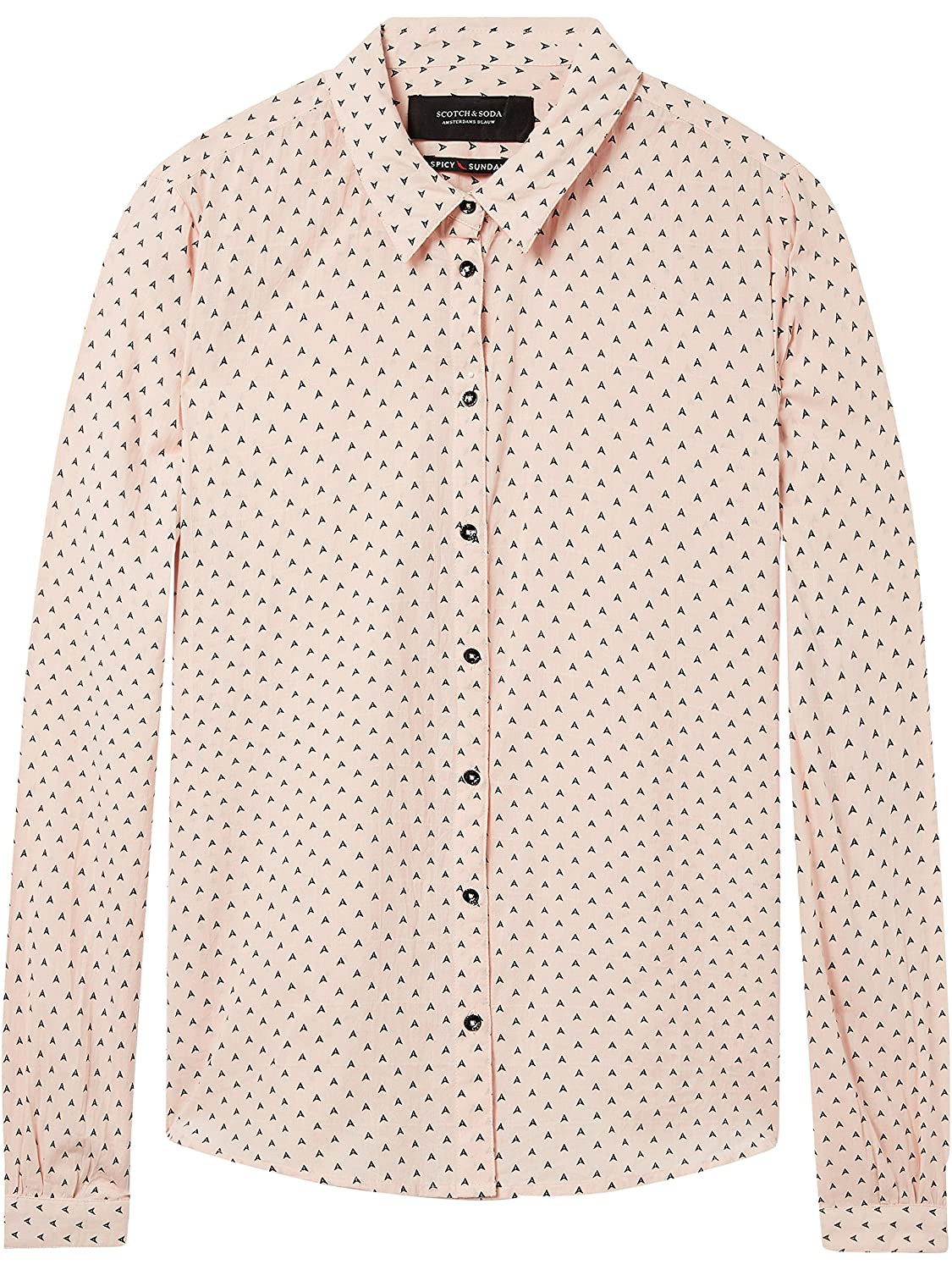 Scotch & Soda Classic Long Sleeve Shirt with Allover Print Blusa para Mujer