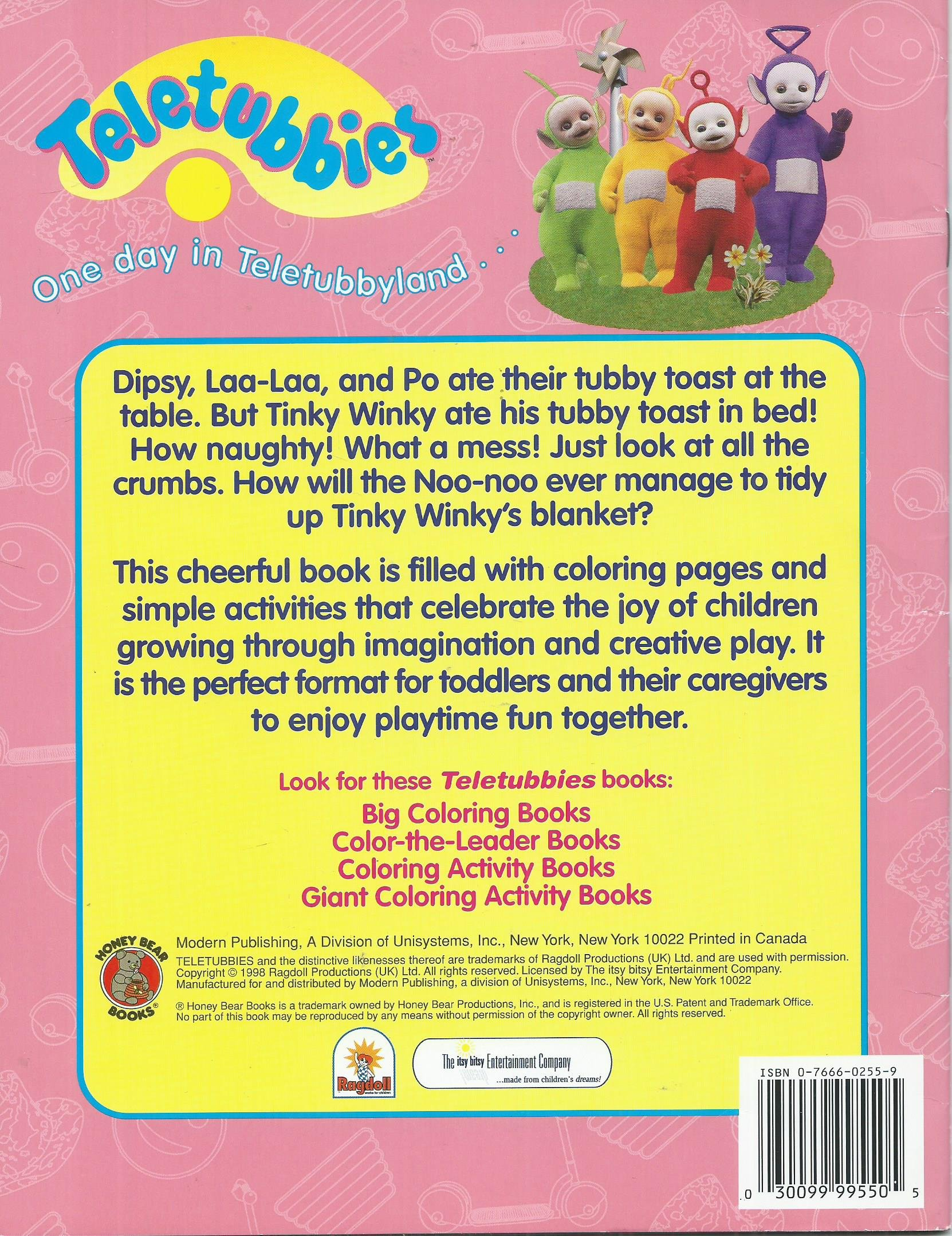 Childrens coloring sheet of a rag doll - Teletubbies Coloring Activity Book Series Tinkywinky S Tubby Toast 9780766602557 Amazon Com Books