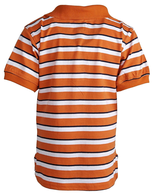 100/% Cotton Size 24M Orange USPA Baby Boy Stripe Short Sleeve Summer Polo and Jeans Shorts Set