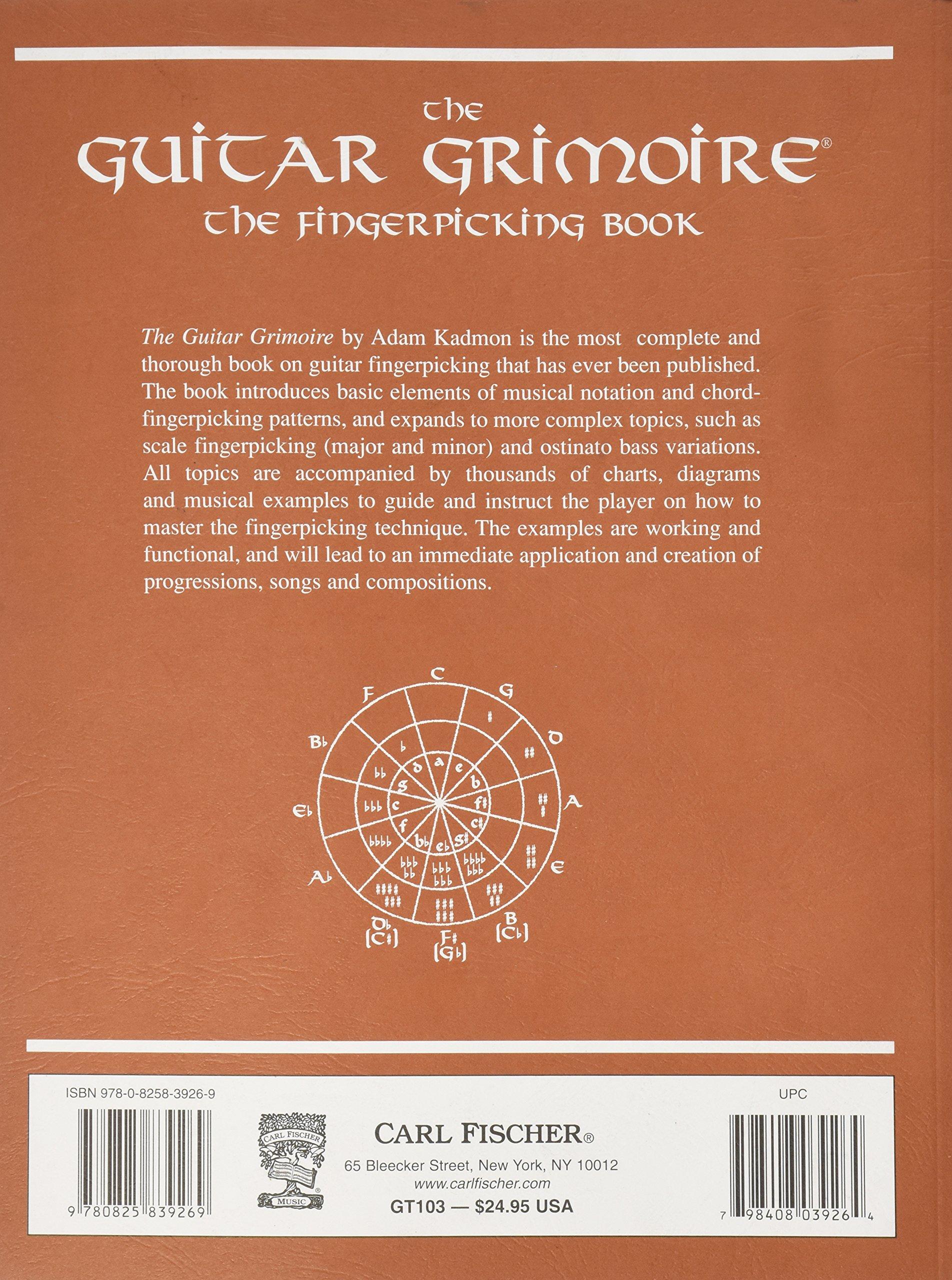 Gt103 The Guitar Grimoire The Fingerpicking Book Adam Kadmon