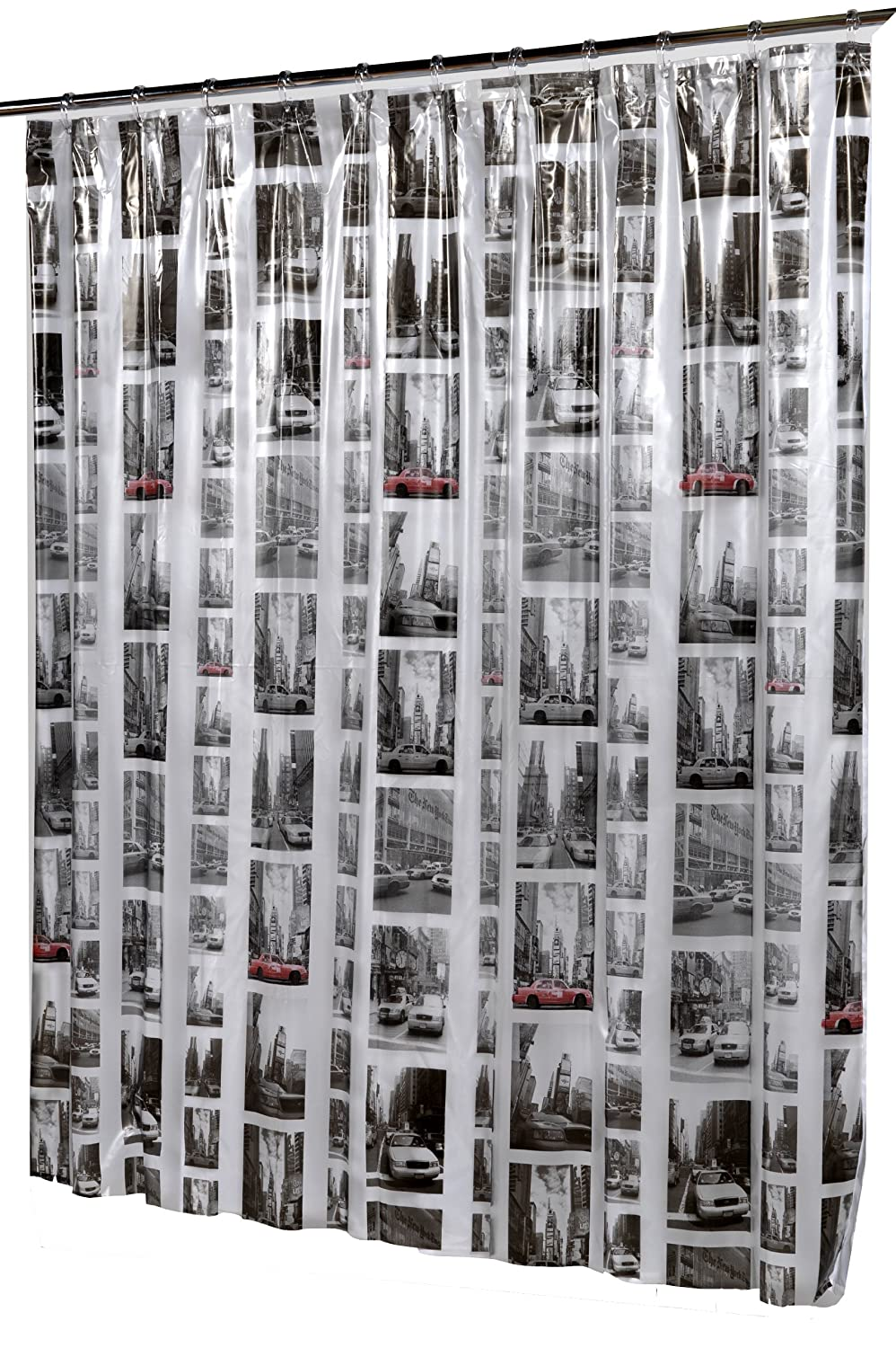 Carnation Home Fashions 'New York Vinyl Shower Curtain SCV-NYC