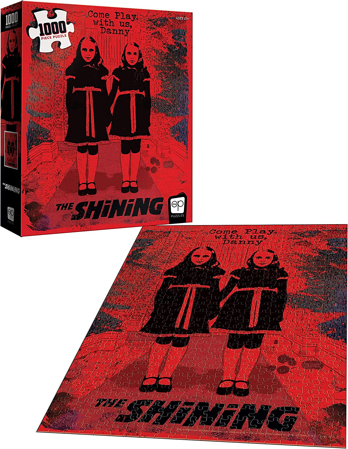USAOPOLY The Shining Come Play with Us 1000 Piece Jigsaw Puzzle Officially Licensed The Shining Puzzle Collectible Puzzle Featuring Characters from The Shining Horror Film
