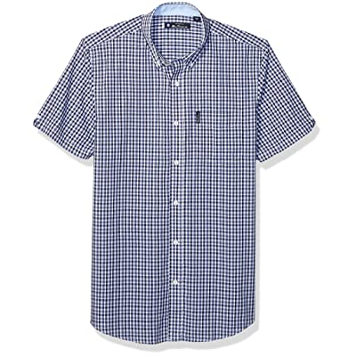 Ben Sherman Men's Ss Micro Chck Dobby Shirt: Clothing