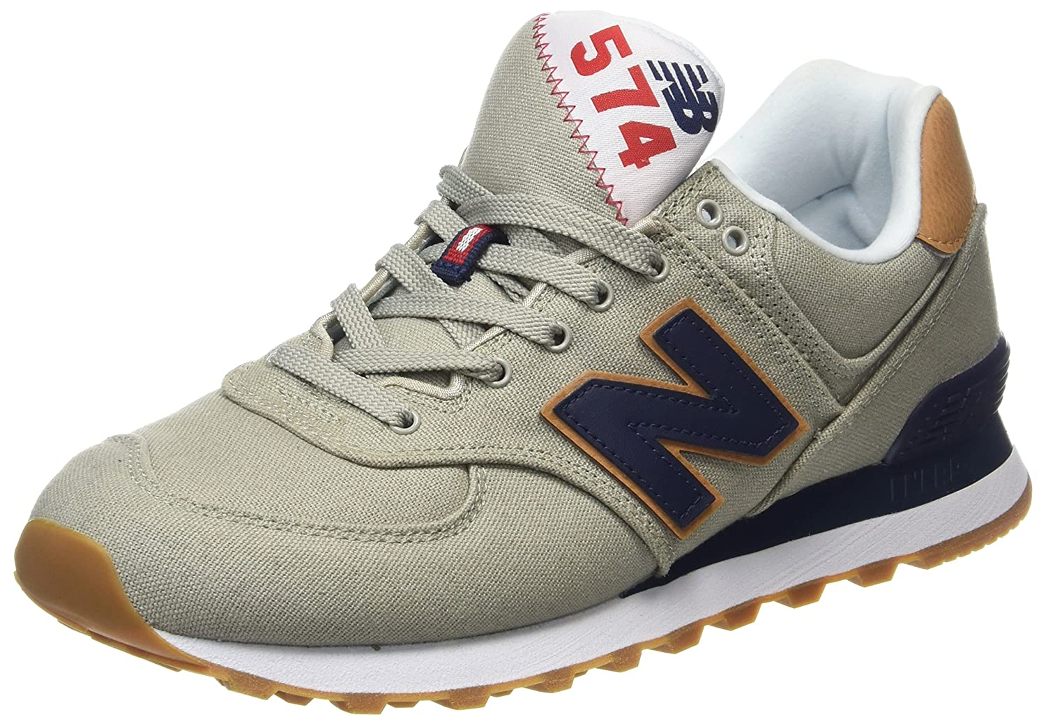 New Balance Herren ML574Y Yatch Pack Sneaker,  42.5 EU|Wei? (Ml574ylb)
