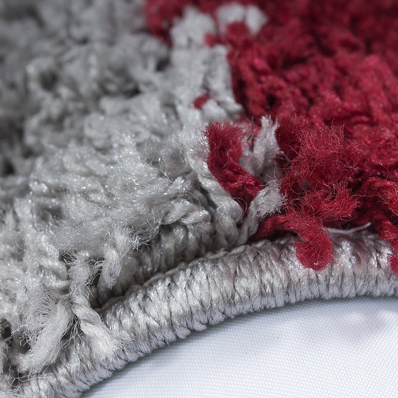 Taille:60x110 cm Couleur:Rouge Shaggy Tapis Shaggy /à Carreaux Moelleux de diff/érentes Couleurs et Tailles