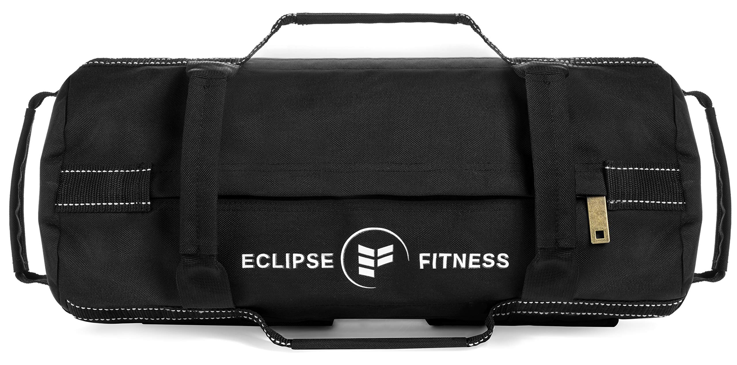 Sandbag for Fitness | Adjustable Weights for Workout | Heavy Duty Reinforced Military Nylon | Includes Exercise Guide | for Training, Crossfit, WOD | (Black, 0-25 LBS)