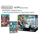 Nintendo Wii U Premium Pack 32GB + Mario Kart 8 + Splatoon + Super Mario & Luigi