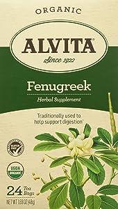 ALVITA Fenugreek Seed Tea Bag - Organic-FENUGREEK-24 ct