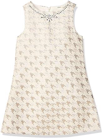 8aff6511e2783 Koton Kız çocuk Elbise, Ekru Desenli, 3-4