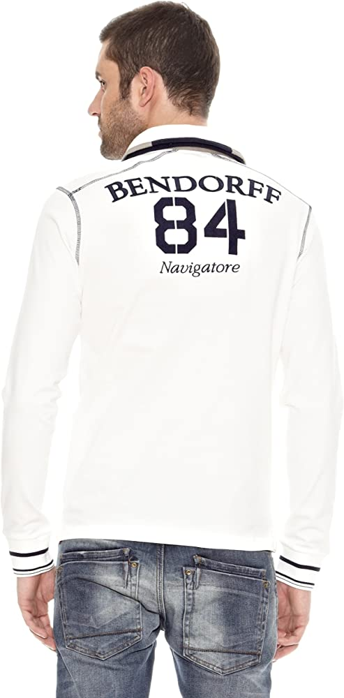 Bendorff Polo Logo Manga Larga Blanco XL: Amazon.es: Ropa y accesorios