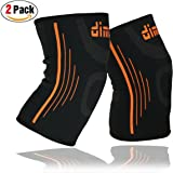 dimok Athletic Knee Brace Compression Sleeve Leg Support For Lifting Running Crossfit Men Women Kids - Best for Joint Pain Arthritis Meniscus Tear & Fast Recovery