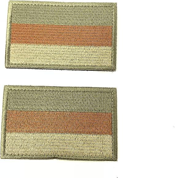 2 Parches Velcro x Bandera de Alemania Alemán Emblema nacional Bandera Táctico bandera con velcro podría ser pegado a la ropa, chaleco, gorra, mochila Directamente OD: Amazon.es: Hogar