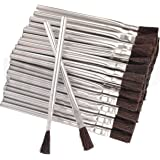 RamPro 144 Flexible Horsehair Bristle Tin/Metal Tubular Ferrule Handle Acid/Flux Brushes for Home/School/Shop/Garage