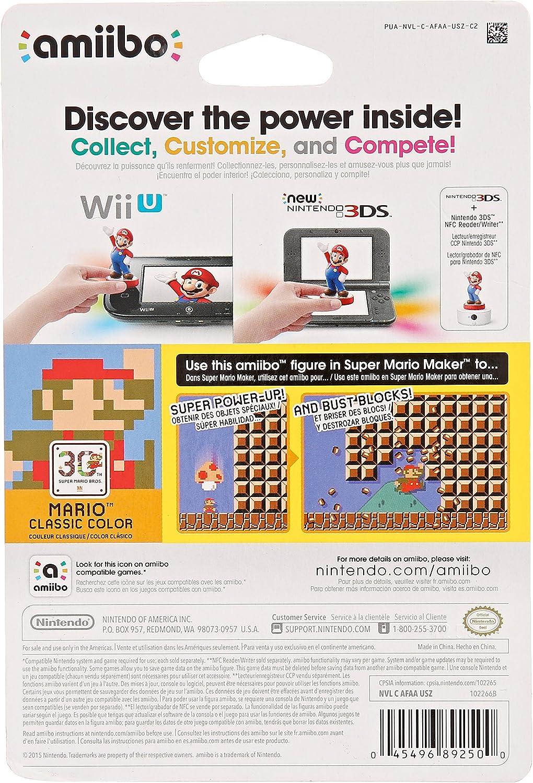 Amazon.com: Mario Classic Color Amiibo (Super Smash Bros Series): Amiibo  Mario Classic Color 30th Anniversary: Video Games
