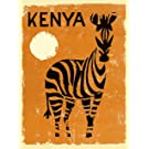 A SLICE IN TIME Kenya Zebra Africa Vintage African Travel Advertisement Art Poster Print. Poster measures 10 x 13.5 inches