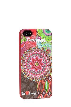 dcf23a3d256 Desigual DESCI003 - Funda de silicona para Apple iPhone 5, color rosa:  Desigual: Amazon.es: Electrónica