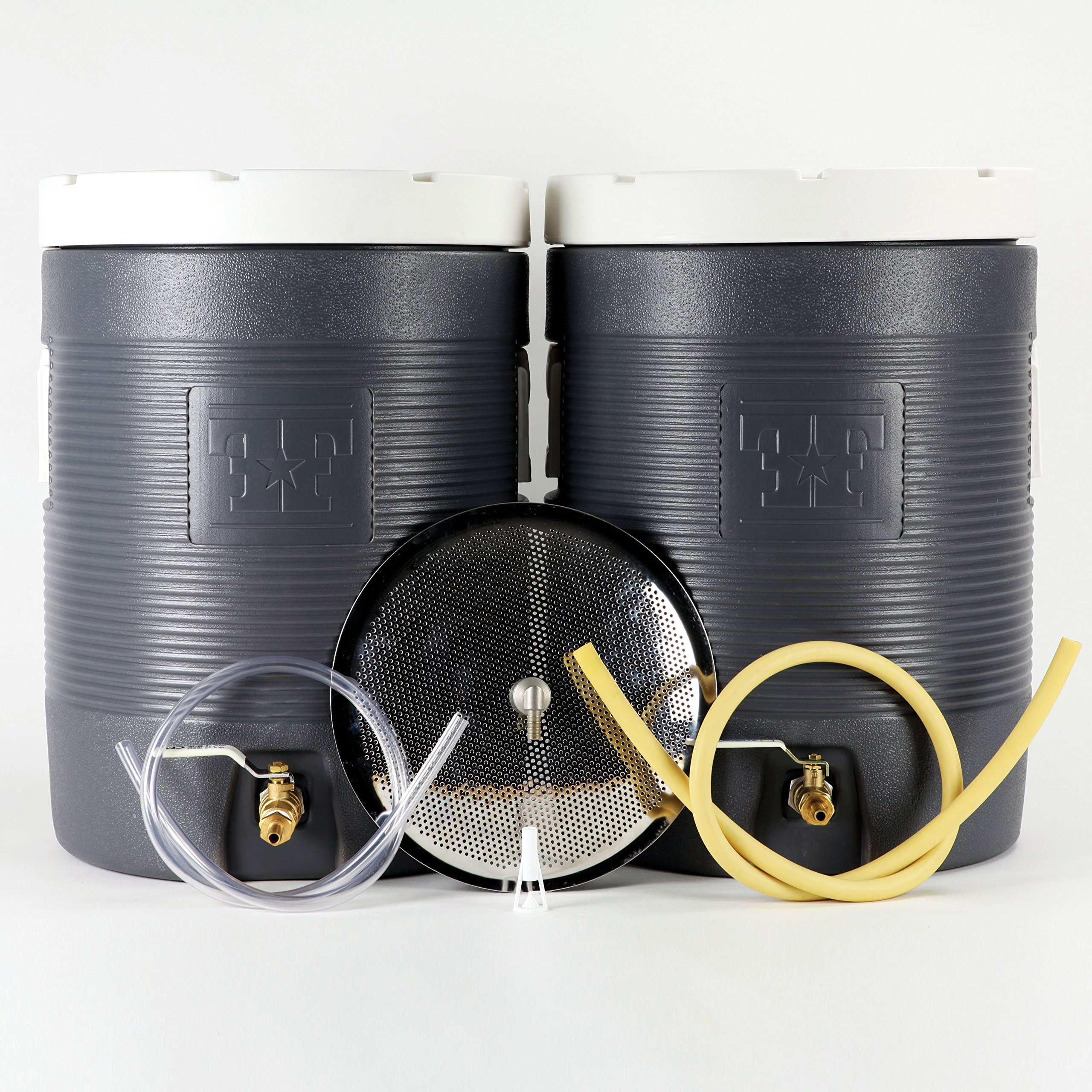 Fermenter's Favorites Essential All Grain Brewing Starter Kit - 10 Gallon Mash Tun and Hot Liquor Tank (HLT)