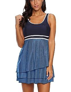 2b869353da Urban Virgin Womens Swimsuits Two Piece Plus Size Swimsuits for Women  Swimdress Bathing Suits Swimwear Tankini