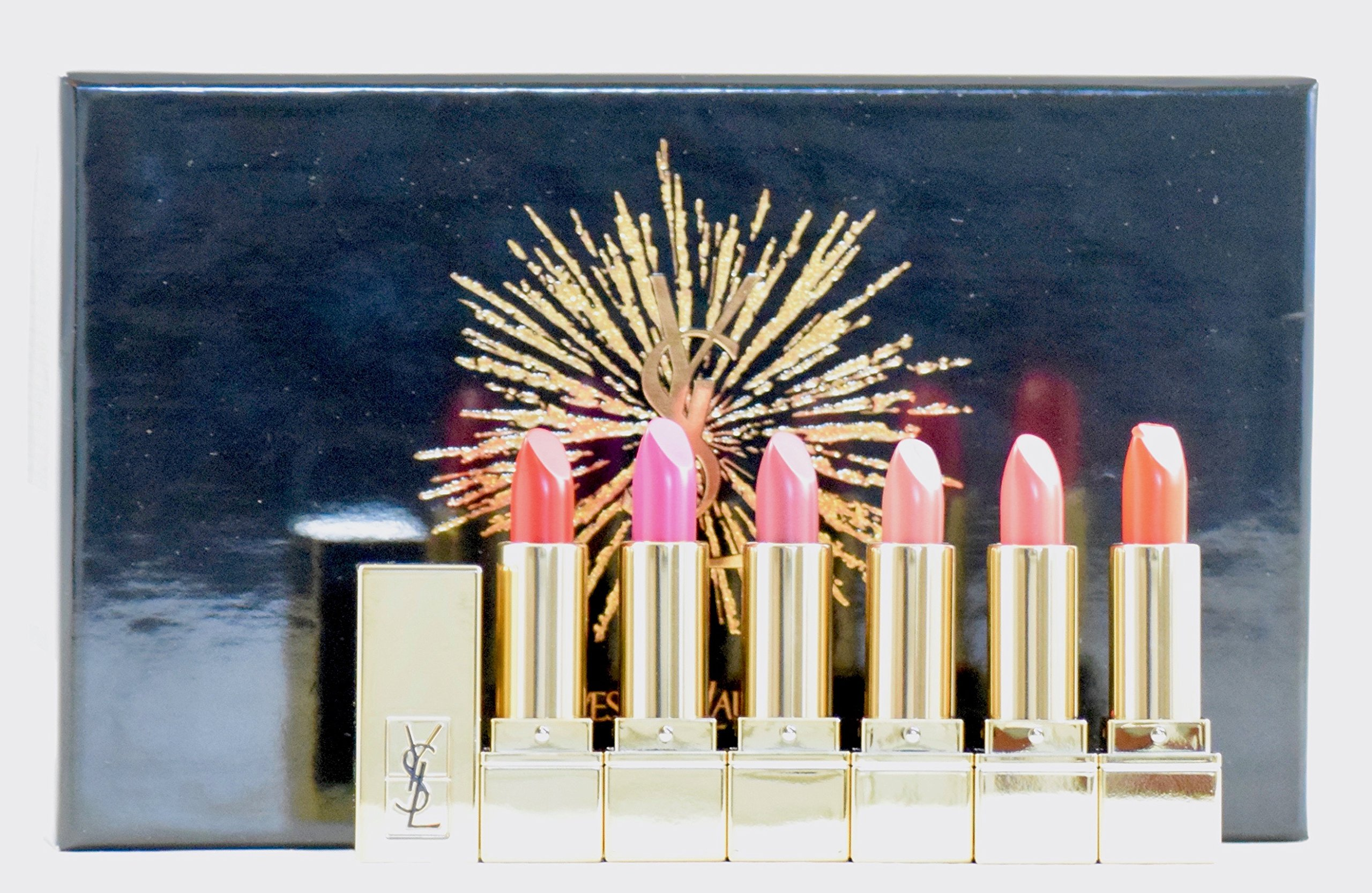 Yves Saint Laurent Rouge Pur Couture Mini Lipstick Collection 2017 - YSL 6 pc Holiday Set