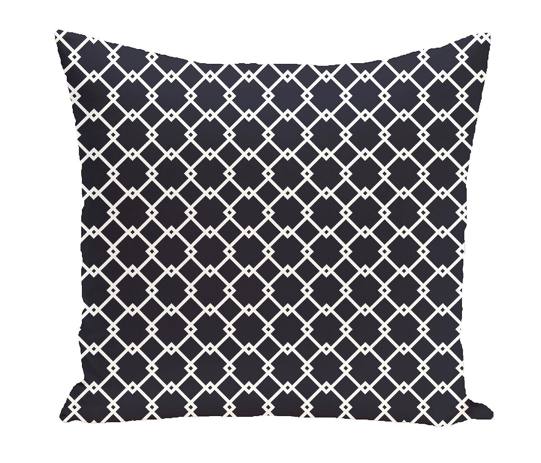 E by design O5PGN104BL14-16 Printed Outdoor Pillow