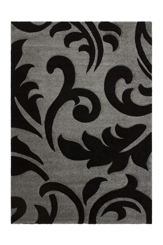 Lalee abgepasste Teppiche, 100% Polypropylen, Silber, 80 x 300 cm