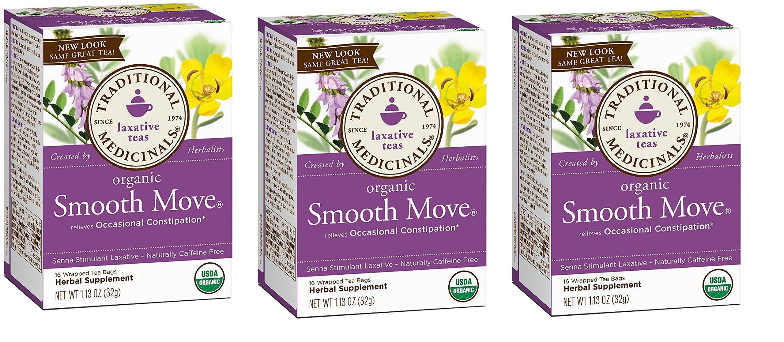 Traditional Medicinals 84361-3pack Traditional Medicinals Chamomile Smooth Move - 3x16 bag