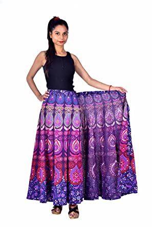 """7282584949 Jaipur Skirt Women's Traditional and Stylish Cotton Printed Wraparound Skirt  (""""Assorted Colors and Assorted Designs"""" Free Size): Amazon.in: Clothing &  ..."""