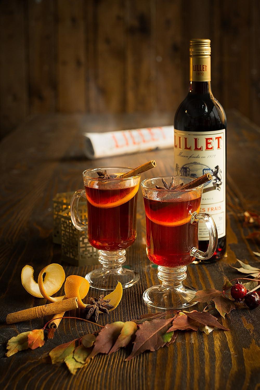 Lillet Rouge französischer Aperitif – Weinaperitif mit frischer ...
