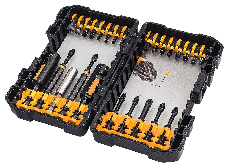DEWALT DT70600T-QZ Juego de 26 piezas de impacto en estuche tipo Tough Case para atornillar con llaves de vaso de limpieza f/ácil