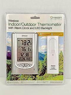 Oregon Scientific Wireless Indoor//Outdoor Thermometer W// Dual Alarm Clock RAR188//BLRS