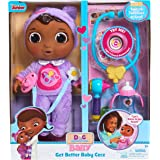 NEW! Disney Junior Doc Mcstuffins - GET BETTER BABY CECE DOLL - 6 Pieces. Light & Sound Stethoscope. Tools To Take Care of Cece.