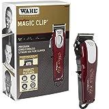 Wahl Professional 5 Star Cordless Magic Clip - Model # 8148 - Red Clipper For Men