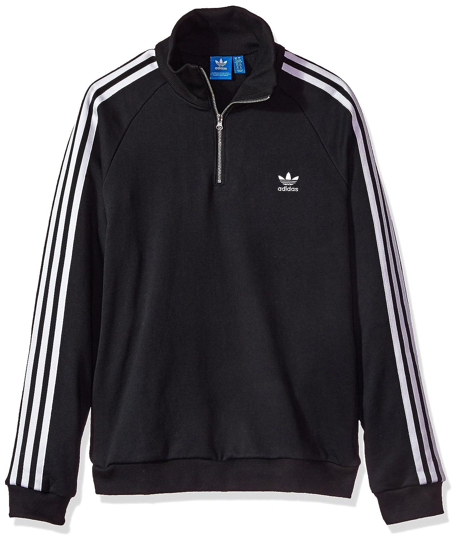 Adidas Originals Womens Outerwear Half Zip Sweatshirt Black X