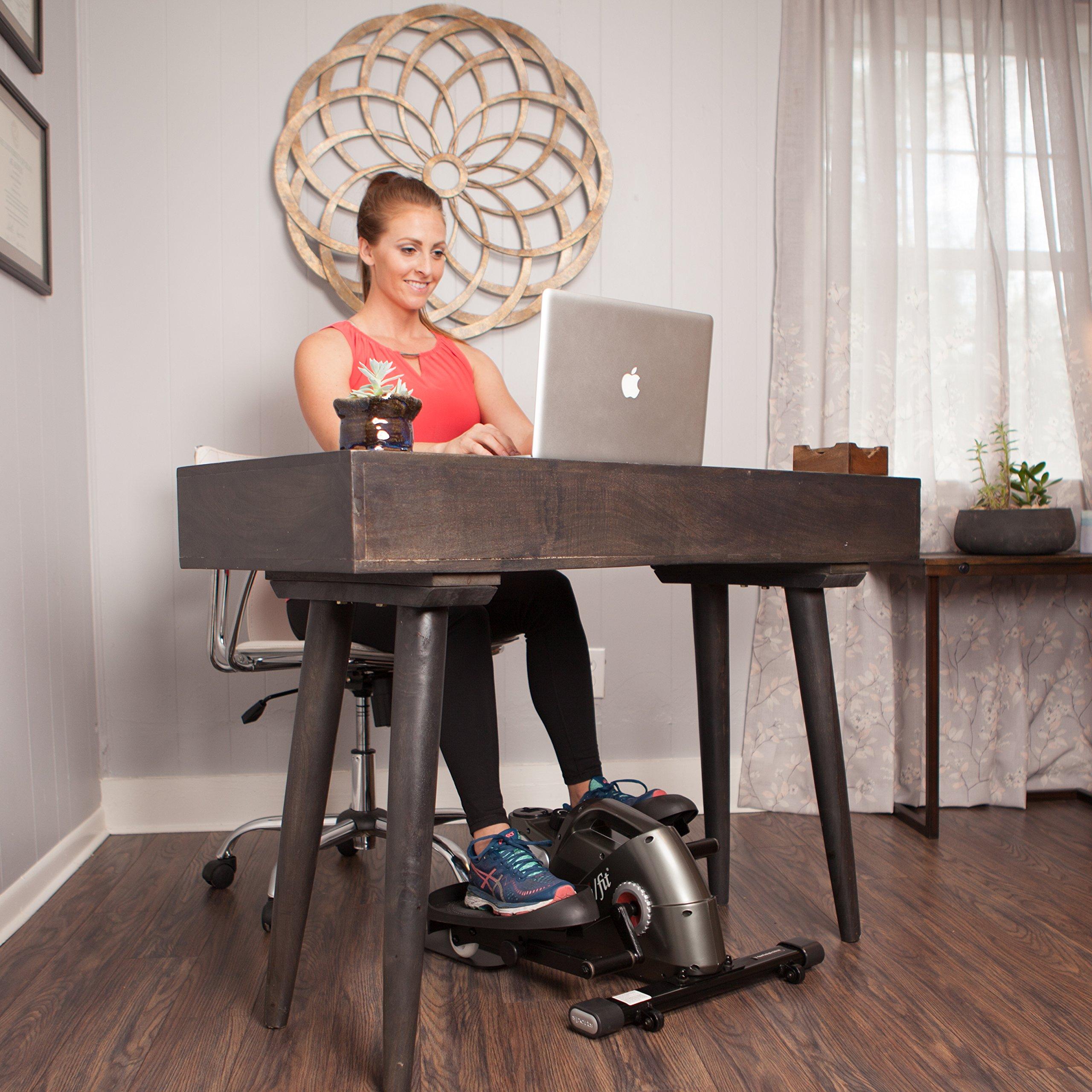 JFIT 50-1000-PEWj/Fit Under Desk & Stand Up Mini Elliptical, Pewter by JFIT (Image #6)
