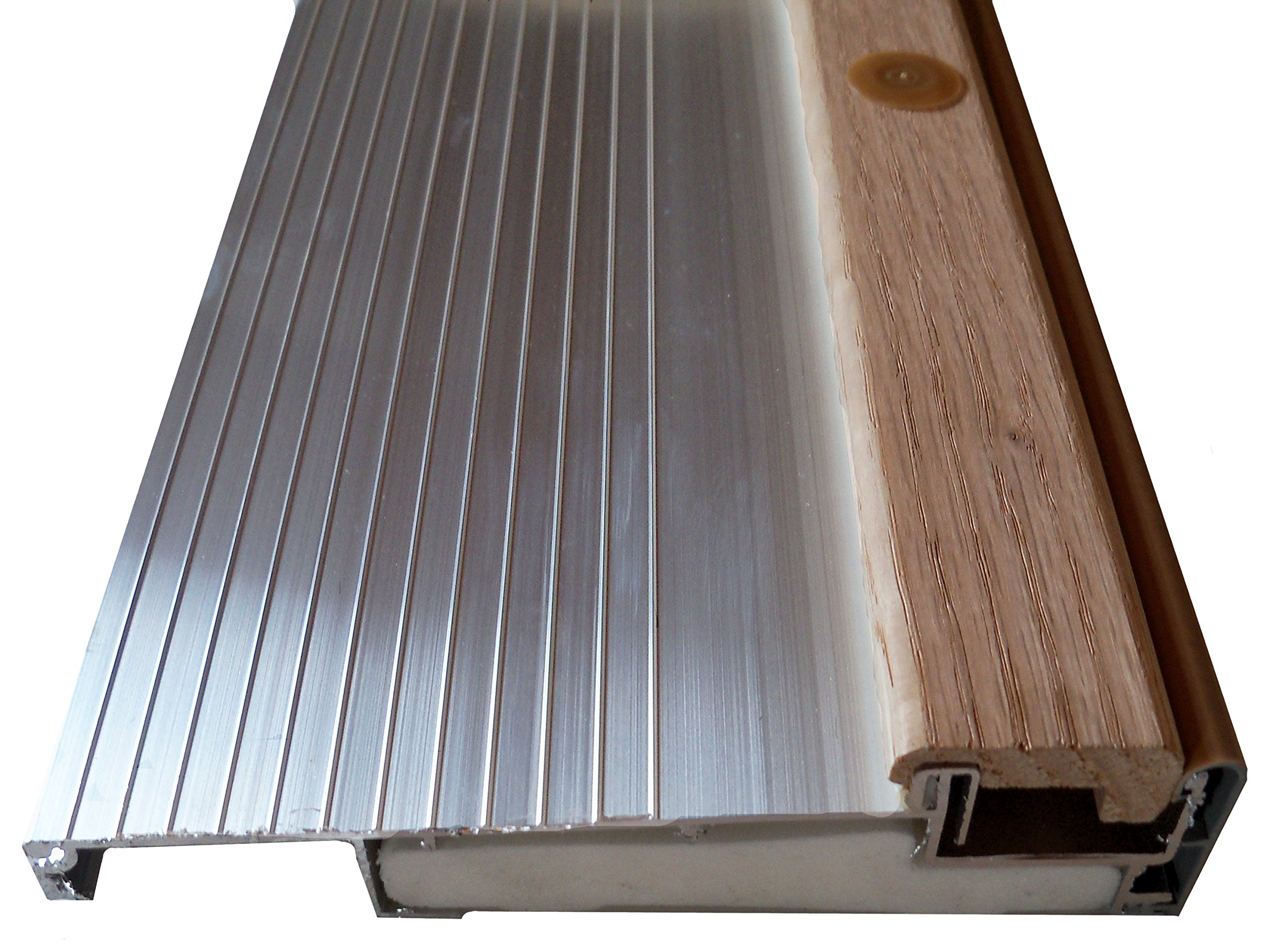 Inswing Door Threshold with Composite Base (3' (36''), Aluminum Mill), 5 5/8''