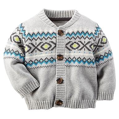 8032fd4ba Amazon.com  Carter s Baby Boy Fair Isle Cardigan (Newborn