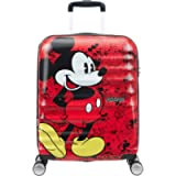 American Tourister DISNEY Wavebreaker Spinner Carry-On, Mickey Comics Red, International Carry-On (Model:85667-6976)