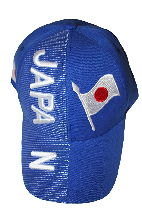 New Japan Blue Country Flag Embossed Hat Cap .