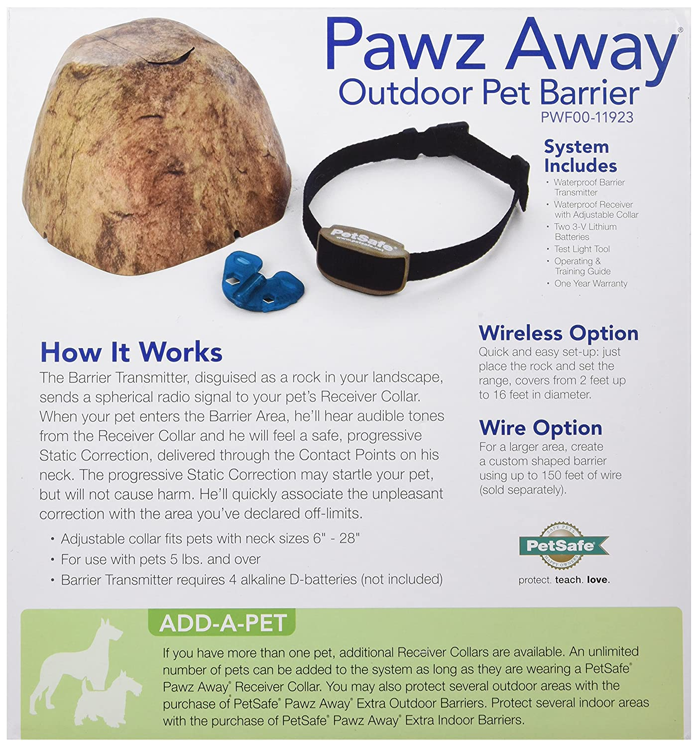 PetSafe Pawz Away Pet Barriers with Adjustable Range, Pet Proofing ...