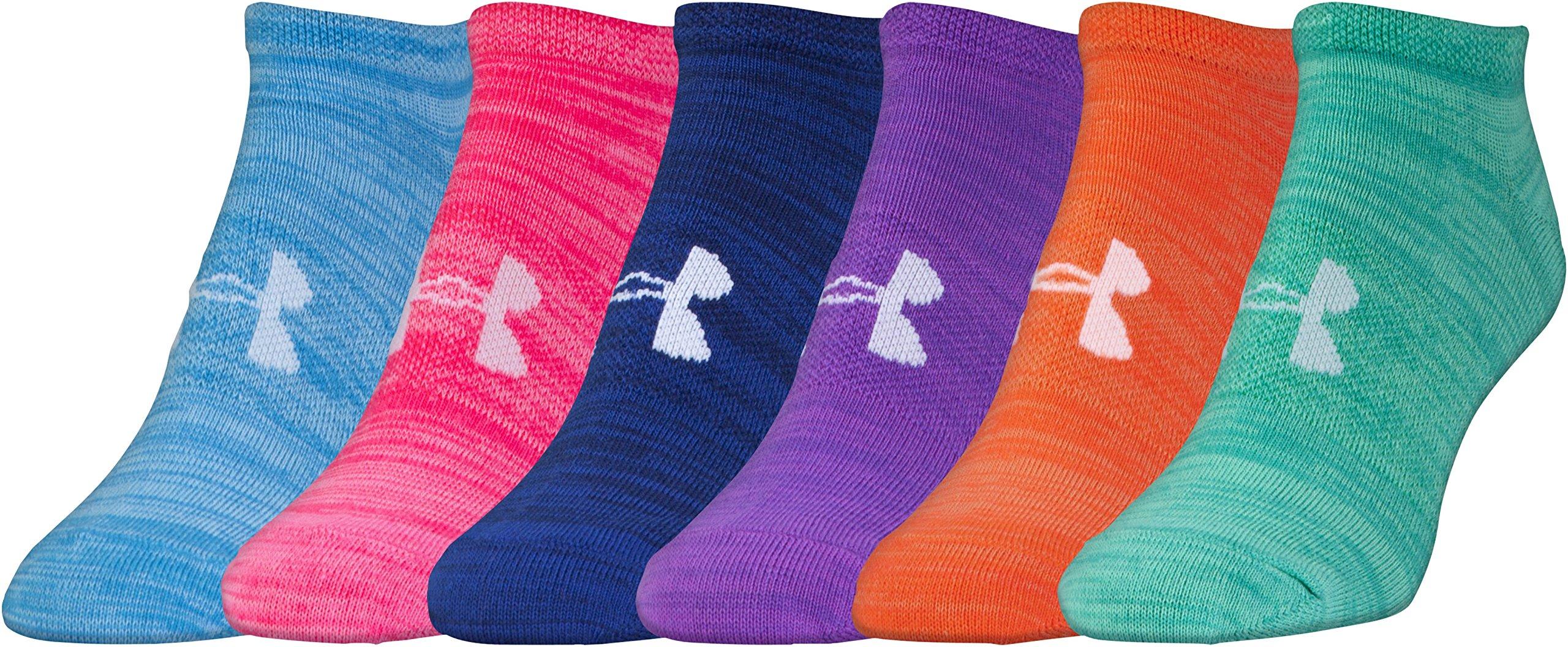 Under Armour Women's Essential Twist No Show Socks (6 Pack), Bright Assortment, Medium