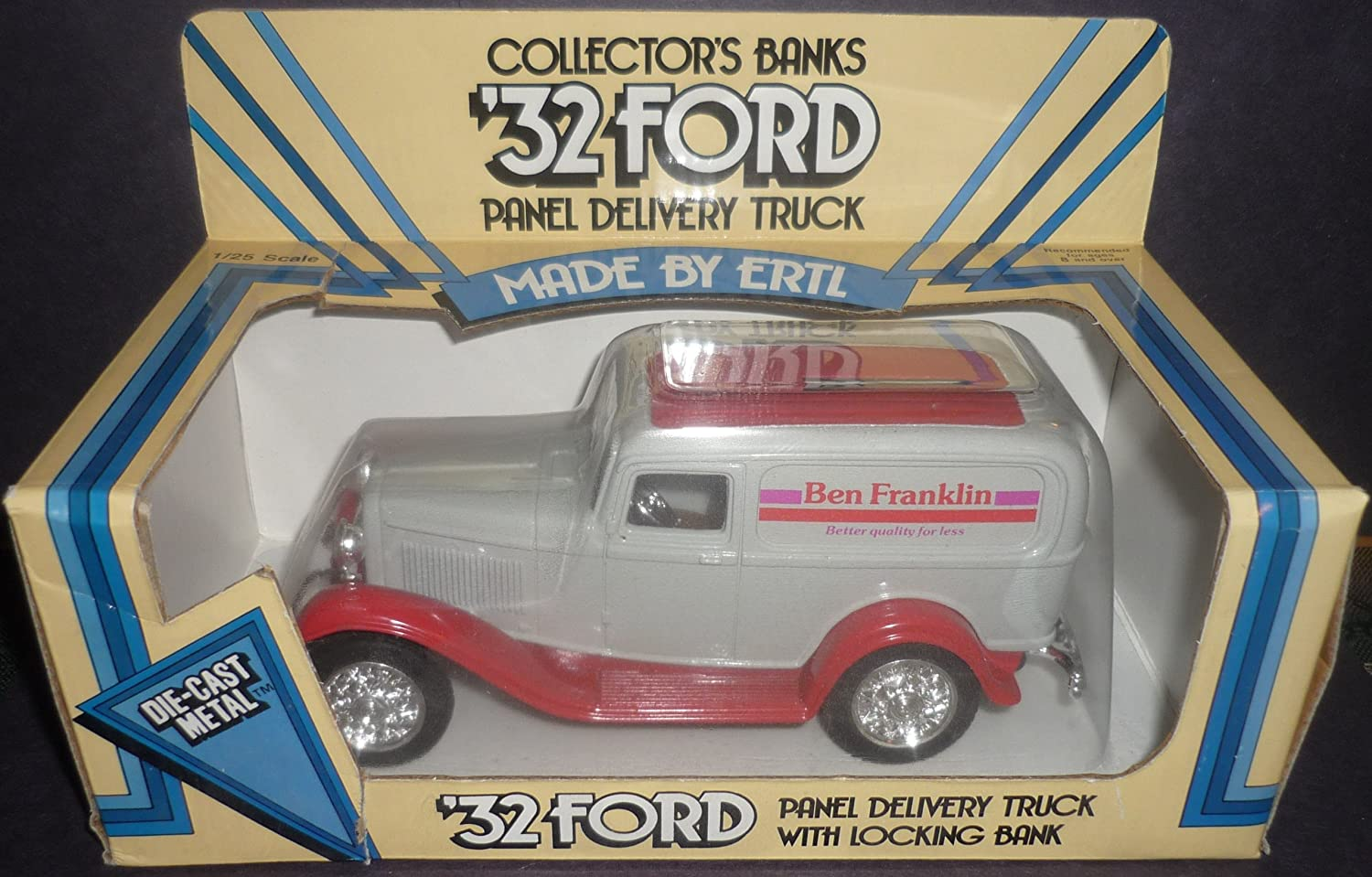 Ertl Ben Franklin 32 Ford Panel Delivery Truck 1948 Cast S Collector Bank 1 25 Scale Diecast Toys Games