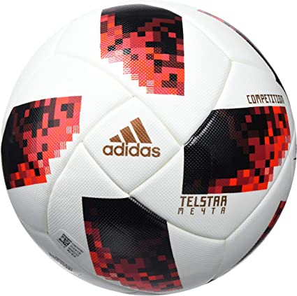 adidas FEF Competition Soccer Ball, Hombre, White/Solar Red/Black ...