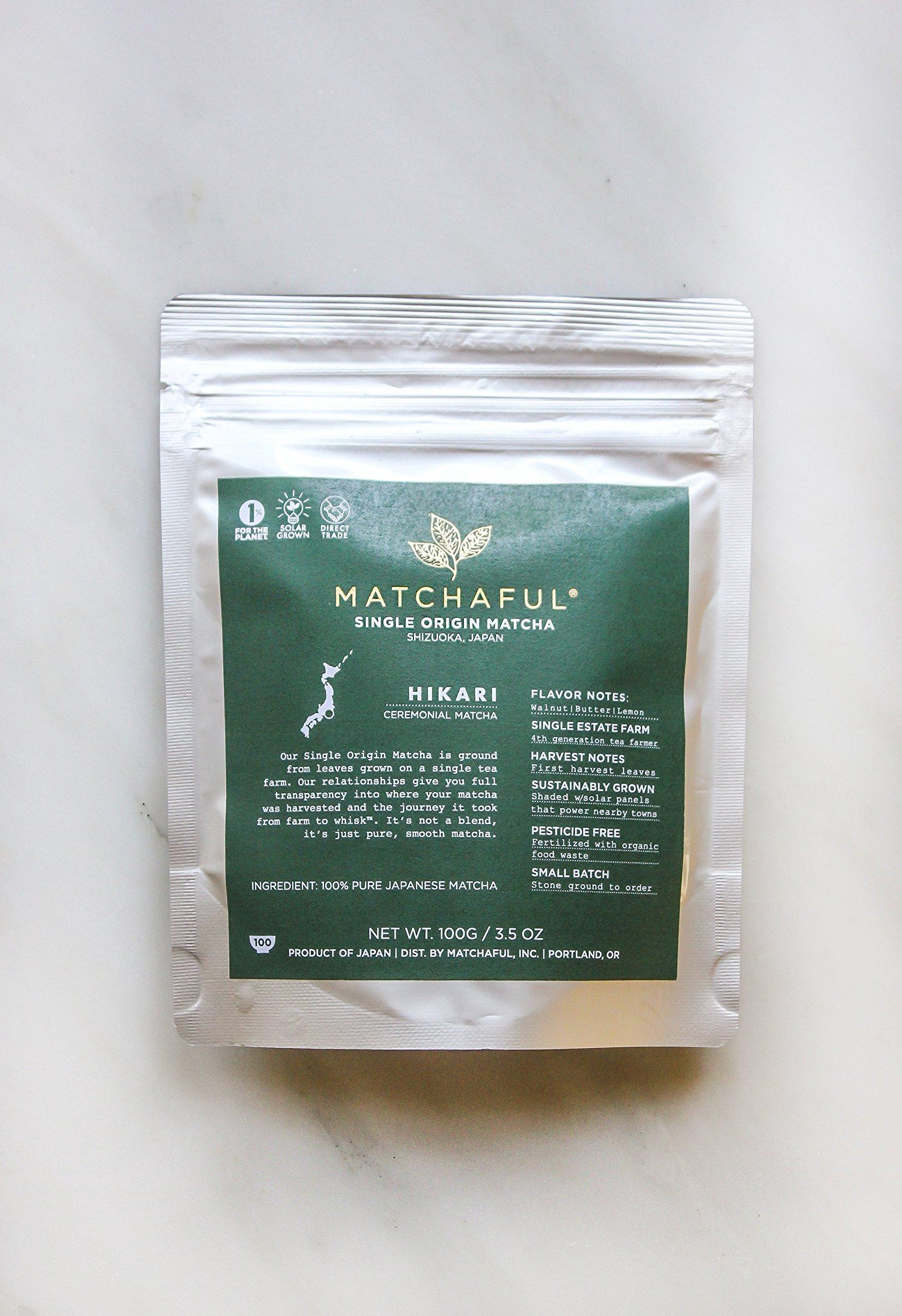 MATCHAFUL Hikari Single Origin Organic Ceremonial Matcha, 100 Gram by MATCHAFUL (Image #3)