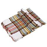 Luxina Large Tartan Scarf Plaid Blanket Shawl Winter Warm Pashmina for Women
