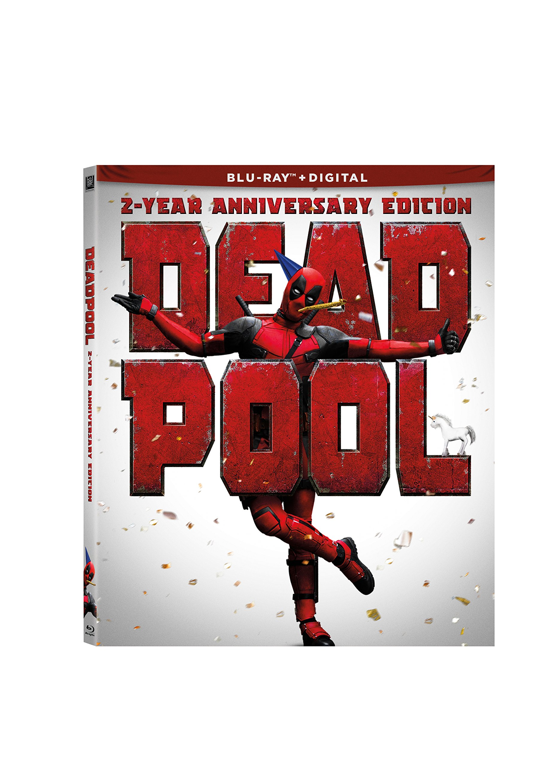 Blu-ray : Deadpool (2 Year Anniversary) (Anniversary Edition, Digital Theater System, Dolby, Widescreen, Subtitled)