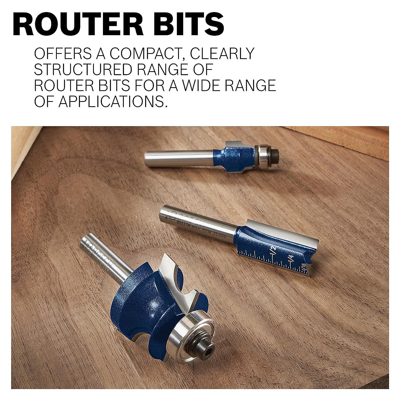 BOSCH 85422M 3//4-Inch Diameter 3//8-Inch Cut Triple Flute Laminate 9 Degree Trim Router Bit 1//4-Inch Shank With 5//8-Inch Ball Bearing